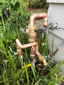 1inch Copper piping, valves and pressure regulator.
